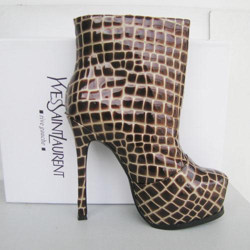 Ботильоны Yves Saint Laurent Tribute Too Croco Boot   Сапоги   Обувь ... ddb360382ee
